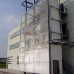 facciata rivestita in acciaio